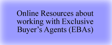 Online resources about buying a home with an exclusive buyers agent